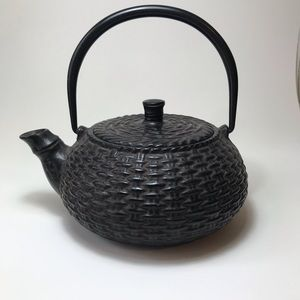 Other - Cast Iron Hatched Teapot w/ Strainer